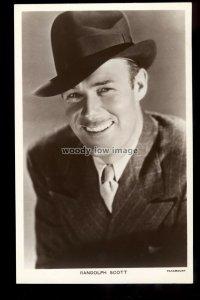b1636 - Film Actor - Randolph Scott - Picturegoer No. 799 - postcard