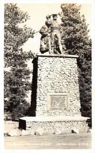 Truckee California~Donner Monument~Indomitable~Unafraid~1953 Real Photo~RPPC
