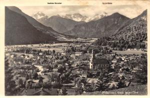 Mittenwald Blick gegen Tirol Kirche Church General view Mountains