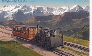 Die Rigibahn und die Berner Alpen , Switzerland , 00-10s ; Train