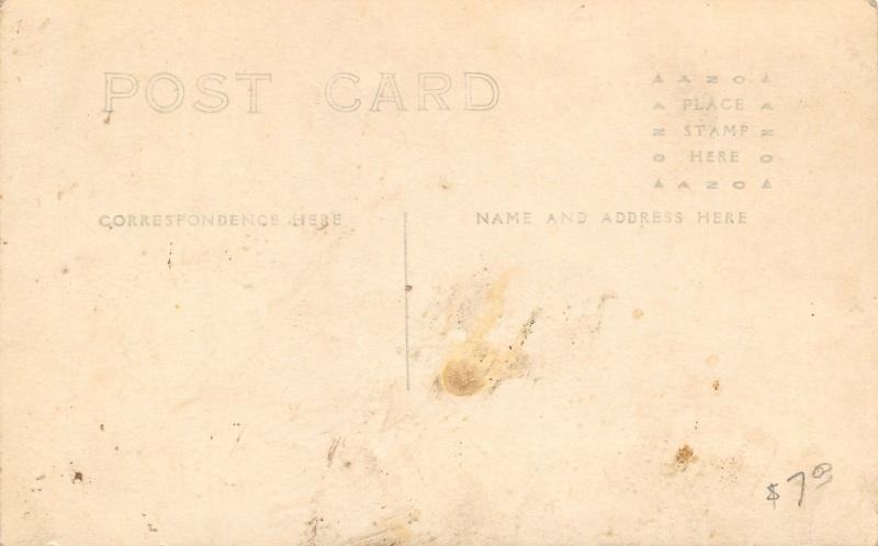 Rockwell City IA~Castellated Belfry~United Methodist Episcopal Church RPPC c1910