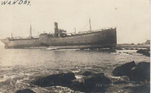 RP; KENNEBUNKPORT , Maine , 1921 ; Shipwreck of S.S. WANDBY #4