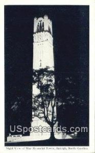 War Memorial Tower Raleigh NC Unused