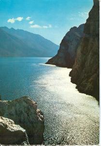Italy, Lago di Garda, Controluce, 1980 used Postcard