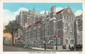 Sterling Library, New Haven, Connecticut, Early Postcard, Unused
