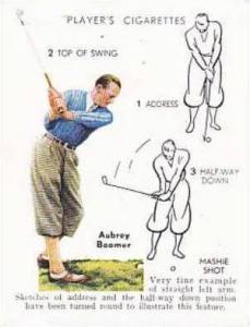 Player Vintage Cigarette Card Golf 1939 No 4 Mashie Shot Aubrey Boomer