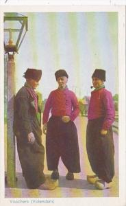 Netherlands Visschers Volendam Local Men In Traditional Costume