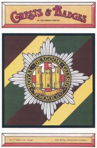 The Royal Dragoon Guards Army Crest Badge Military Postcard