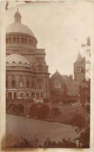 G52/ Boston Massachusetts RPPC  c1910 Christian Science Church 5