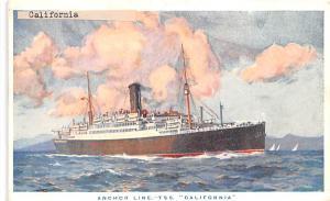Anchor Line TSS California Ship Unused