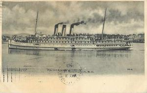 Princess Victoria Steamer Victoria BC 1907 Divided Back