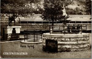 Eureka Springs Arkansas~Basin Spring~Dog Statue~Fountain~Gray Photographer~1910
