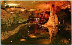 Hammondville, Alabama Postcard SEQUOYAH CAVERNS Cave Interior View c1969 Unused