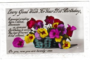 Post Card Greetings - Birthday Every Good Wish For Your 21st Birthday