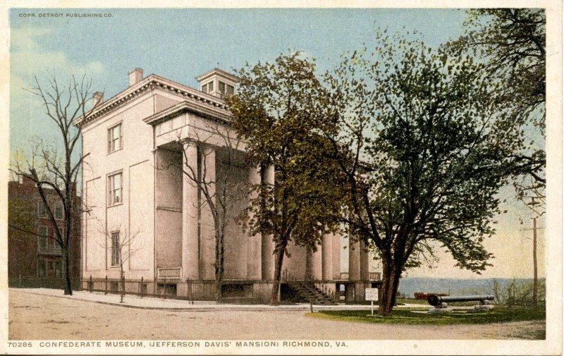 VA - Richmond. Confederate Museum (Jefferson Davis Mansion)