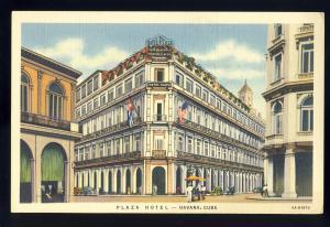Havana/Habana, Cuba Postcard, Plaza Hotel, Old Havana Style