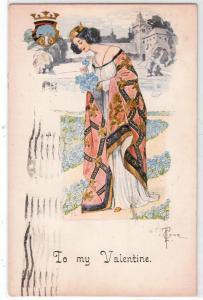 Valentine, Art Nouveau by L T crue