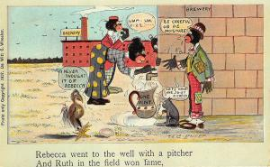 Baseball Black Americana Rebecca Pitcher Ruth Brewery Signed Phifer Postcard