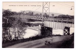 Antique 1930-1950 Footbridge to Oxford Paper Co. Company Rumford ME RPPC