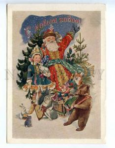 226274 RUSSIA ADRIANOV HAPPY NEW YEAR 1954 marked old postcard