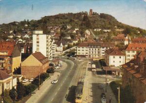 Germany Karlsruhe Endstation der Strassenbahn und Turmberg