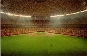 VTG Postcard The Astrodome Houston Texas Interior Baseball Field Astroturf 1449