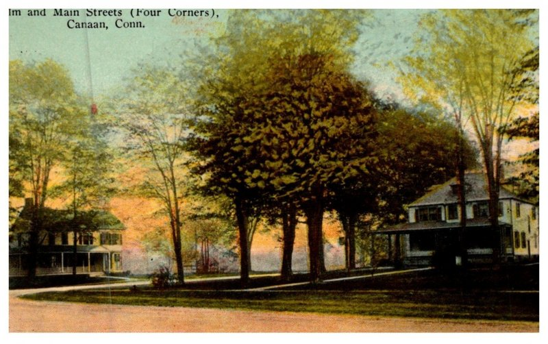 Connecticut  Canaan , Elm and Main Streets  ( Four Corners )