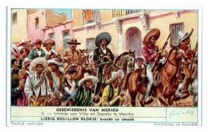 Zapata and Villa, History of Mexico Liebig Belgian Trade Card *VT28D
