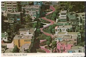 Postcard The Crookedest Street In the World Lombard St San Francisco, California