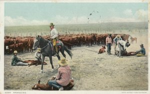 Cowboys Branding Cattle, 1910-20s