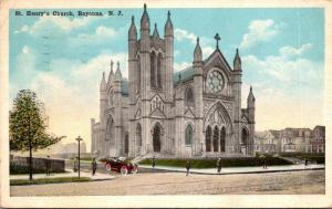 New Jersey Bayonne St Henry's Church 1919
