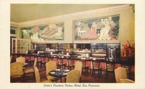 San Francisco~Lotta's Fountain~Counter~Palace Hotel~Sotomayer Murals~1940s PC