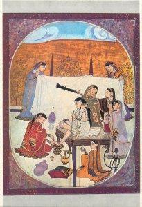 Postcard Lahore Museum PAKISTAN Lady s toilet Kangra school