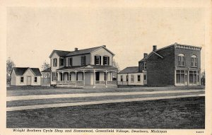 Wright Brothers Cycle Shop and Homestead, Dearborn, MI, Early Postcard, unused