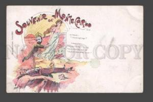 085251 Souvenir de Monte Carlo king ALBERT Vintage comical PC