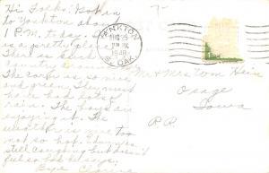Yankton SD~Main Street~JJ Newberry~Candy~Dentist~Bob's Cafe~1920s Cars~1948 RPPC