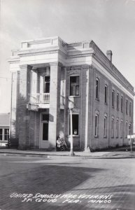 Florida St Cloud United Spanish War Veterans Building Real Photo sk2974