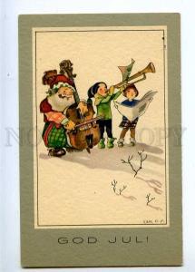 233312 X-MAS Musician GNOME Dwarf CELLO by O.S. Vintage PC