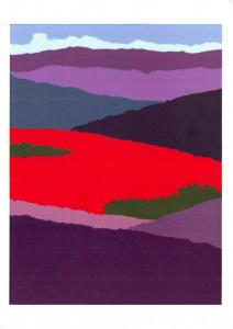 NEW Abstract Art Postcard Rejoice Ye Vales and Mountains by Stella M Kinread 28O