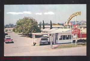 HEALDSBURG CALIFORNIA L AND M MOTEL 1950's CARS VINTAGE