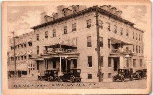Postcard NY Watkins The Jefferson Hotel BW