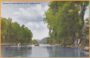 St. Joseph , Mich., Fishing at Twin Springs, 2 ladies watching the guys fish -