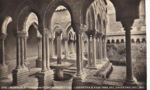 Italy Monreale Convento dei Benedettini Loggetta e Fontana del Chiostro Photo