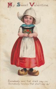 Ellen CLAPSADDLE ; Dutch Girl , My Sweet Valentine , 1912