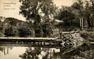 CT - Canaan. Swinging Bridge & Dam