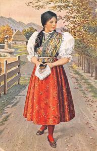 Czecho-Slovak national costumes, J. Mukarovskyho Signed