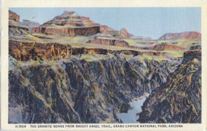 THE GRANITE GORGE... beautiful rock formations from Bright Angel Trail, 1930/40s