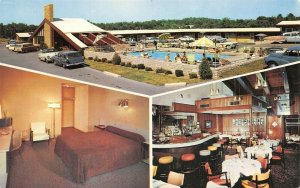 Dayton Ohio~Motel Capri~Guest Room~Cocktail Lounge~Pool~1950s Station Wagon~Cars