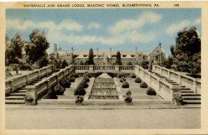 PA - Elizabethtown. Masonic Grand Lodge, Home & Waterfalls