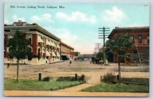 Postcard MS Gulfport 26th Avenue Street View Looking North c1909 W3